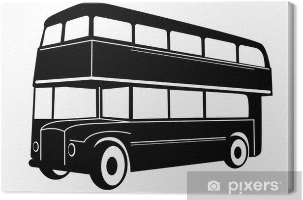 Lontoon kaksoiskerroksen punainen bussi Kangaskuva - Teillä