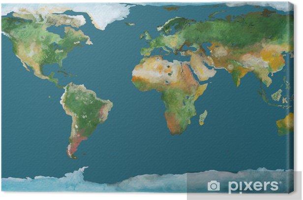 Maapallon Kartta Harjakuva Kangaskuva Pixers Elamme Muutoksille