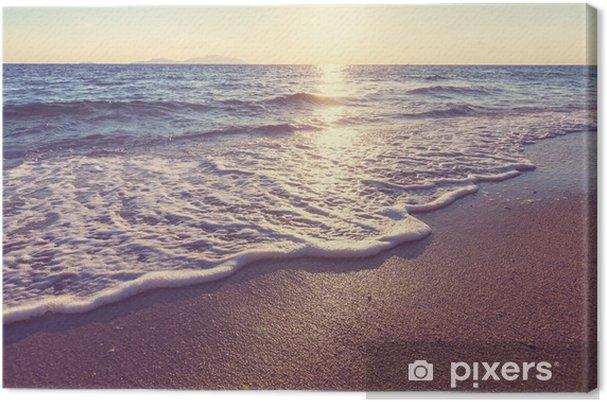 Meren auringonlasku Kangaskuva -