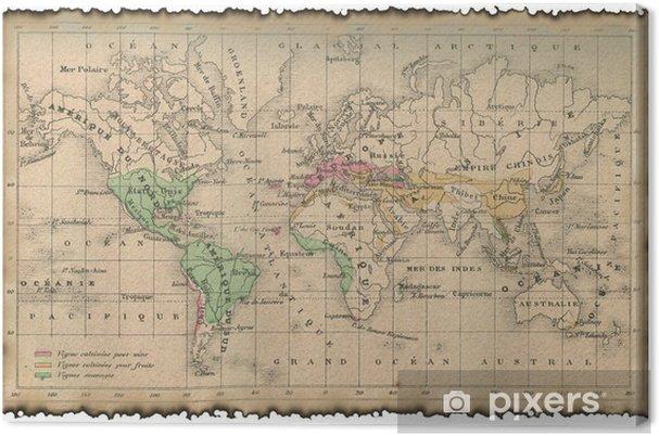 Muinainen Kartta Maailmasta Kangaskuva Pixers Elamme Muutoksille