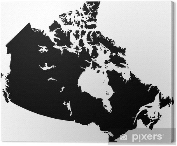 Musta Kanada Kartta Kangaskuva Pixers Elamme Muutoksille