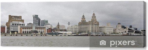 Näkymä liverpoolille ja mersey-joelle Kangaskuva - Eurooppa