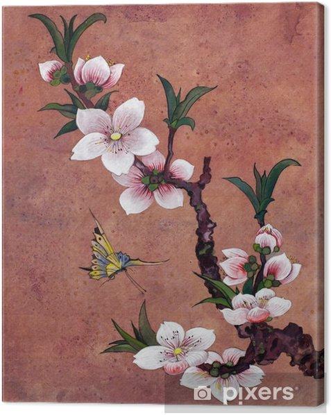 Omena kukkivat haara Kangaskuva - Kasvit Ja Kukat