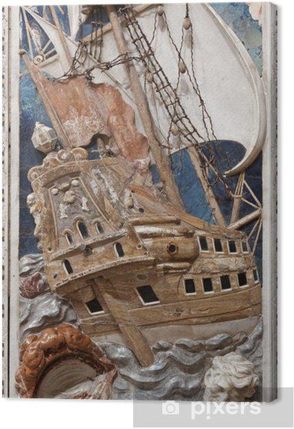 Palermo - barokkityyppinen kohtaus profeetta jonahilta Kangaskuva - Eurooppa