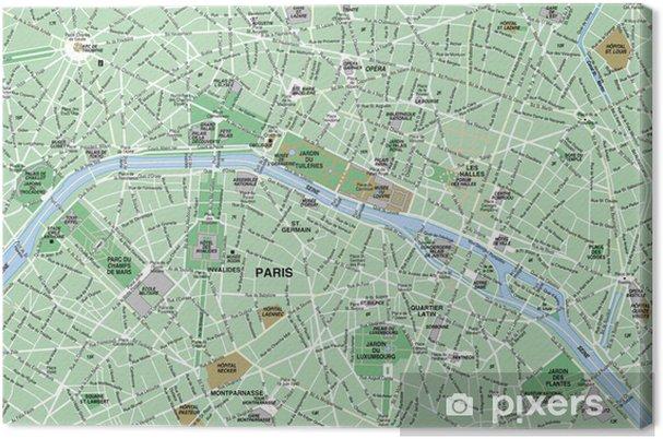 Pariisin Kartta Kangaskuva Pixers Elamme Muutoksille