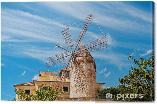 Perinteinen tuulimylly palma, majorca Kangaskuva - Mills and windmills