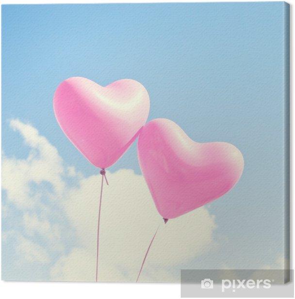 Pinkki sydän ilmapalloja Kangaskuva - Mielialat