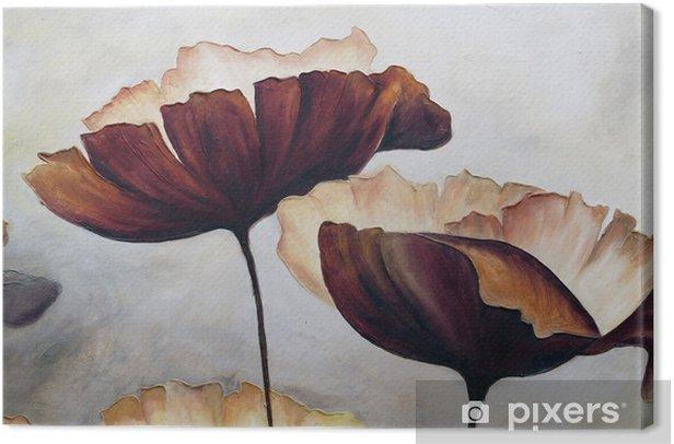 Poppy abstrakti maalaus Kangaskuva - Harrastukset Ja Vapaa-Aika