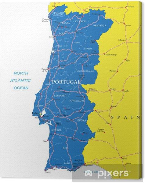 Portugalin Kartta Kangaskuva Pixers Elamme Muutoksille