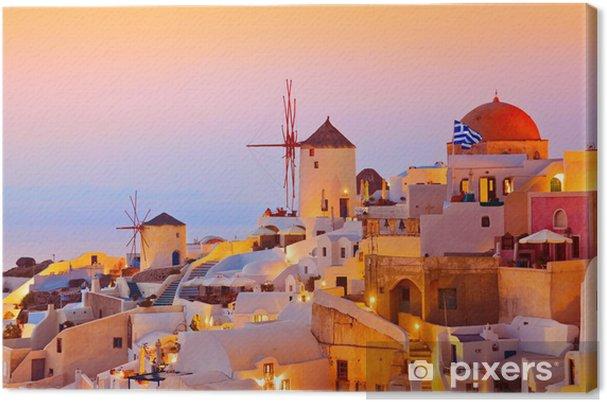 Santorinin auringonlasku (oia) - kreikka Kangaskuva -