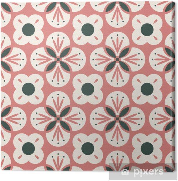 Saumaton retro kuvio abstraktilla kukkaelementillä Kangaskuva - Graafiset Resurssit