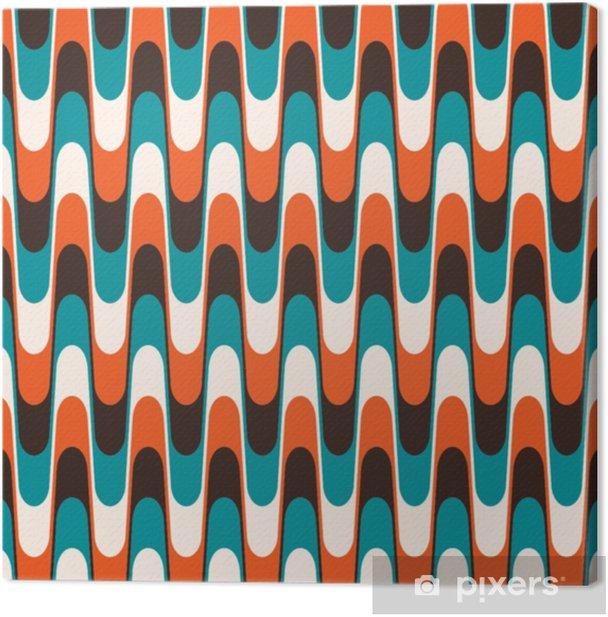 Saumaton vintage aaltoileva kuvio vuosisadan vuosisadan tyyliin. Kangaskuva - Graafiset Resurssit