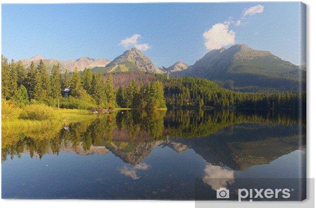 Slovakian vuori järven tatra - strbske pleso Kangaskuva - Eurooppa