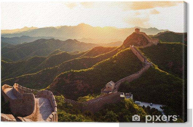Suuri seinä auringon alla auringonlaskun aikaan Kangaskuva - Monumentit