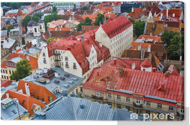 Tallinnin vanhankaupungin katot Kangaskuva - Eurooppa