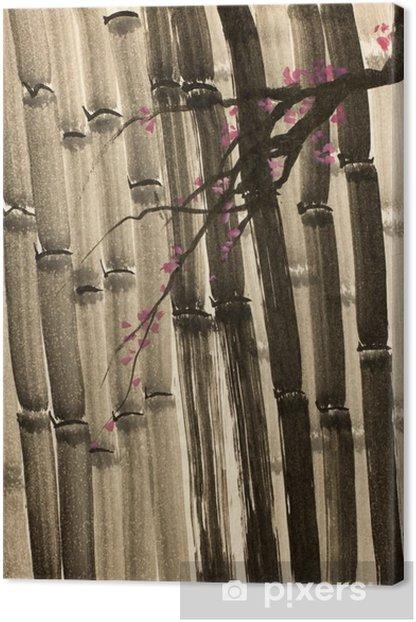 Tiheä bambu metsä Kangaskuva - Kasvit Ja Kukat