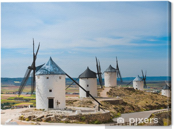 Tuulimyllyjen ryhmä Kangaskuva - Mills and windmills