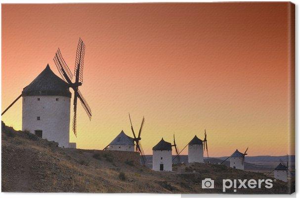 Tuulimyllyt consuegra, espanja Kangaskuva - Mills and windmills