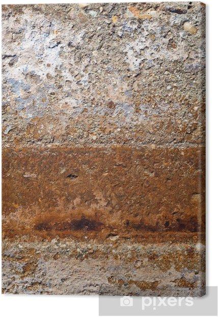Vanha monivärinen kipsi seinä Kangaskuva - Abstrakti