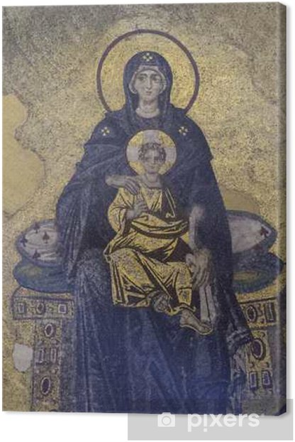 Virgin mary ja jesus Kangaskuva - Kulttuuri Ja Uskonto