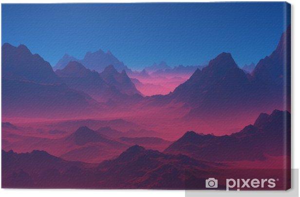 Vuoret auringonlaskun aikaan Kangaskuva - Maisemat