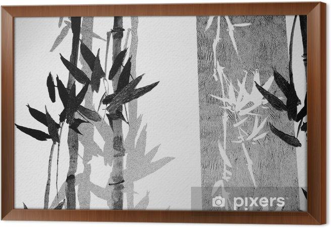 Bambu / rakenne Kehystetty kangaskuva -