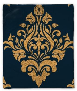 Koc pluszowy Element adamaszku wektor wzór. klasyczny luksus staroświecki barokowy ornament, królewski wiktoriański bez szwu tekstury do tapet, tekstylne, owijania. wykwintny kwiatowy barokowy szablon.