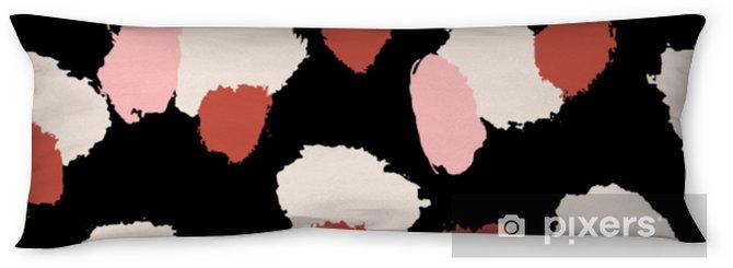 Kroppskudde Handdragen penselsträckor sömlöst mönster - Grafiska resurser