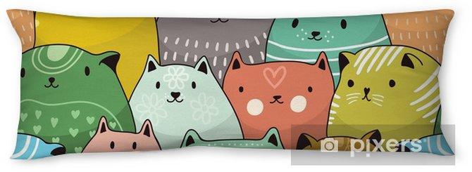 Kroppskudde Kattar sömlösa mönster - Grafiska resurser