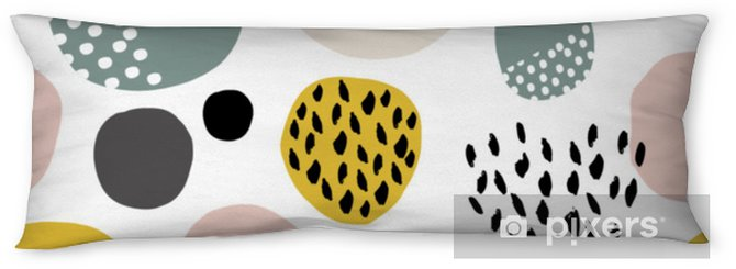 Kroppskudde Sömlöst fdashion mönster med handritade fläckar, prickar, borsttexturer. kreativ modern textur. bra för tyg, textil vektor illustration - Grafiska resurser