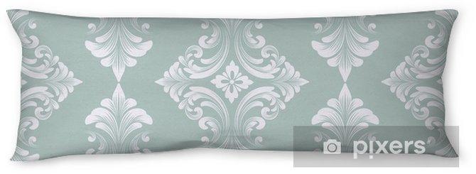 Kroppskudde Vektor damast sömlösa mönster bakgrund. klassisk lyx gammaldags damask prydnad, royal victorian sömlös textur för tapeter, textil, inslagning. utsökt blommig barockmall - Grafiska resurser