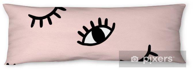 Kroppskudde Vektor handgjorda ögon klotter sömlösa mönster - Hobby och fritid