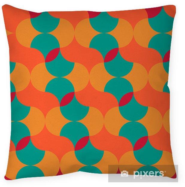 Kussensloop Abstract retro geometrisch patroon - Achtergrond