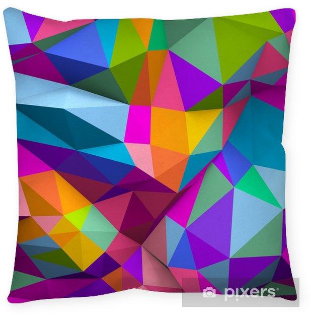 Kussensloop Abstracte kleurrijke laag poly achtergrond in 3d - Grafische Bronnen