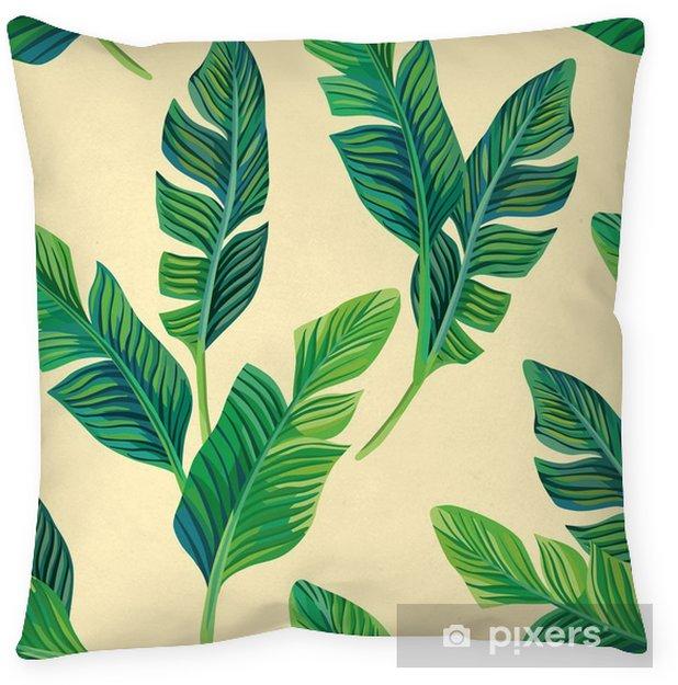 Kussensloop Bananenbladeren naadloze achtergrond - Bloemen en Planten