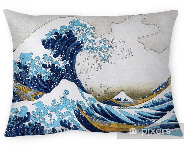 Kussensloop Hokusai de grote golf van kanagawa volwassen kleurplaat - Grafische Bronnen