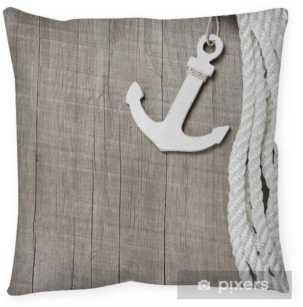 Kussensloop Maritieme achtergrond - Haven - levenslijn en touw - Het Leven