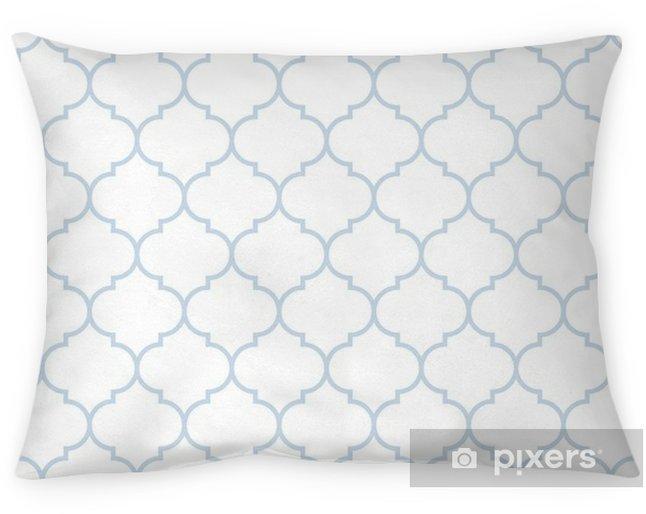 Kussensloop Naadloze subtiele blauwe en witte brede Marokkaanse patroonvector - Grafische Bronnen