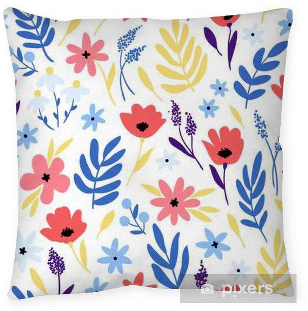 Kussensloop Vector bloemenpatroon met bloemen en bladeren. - Bloemen en Planten