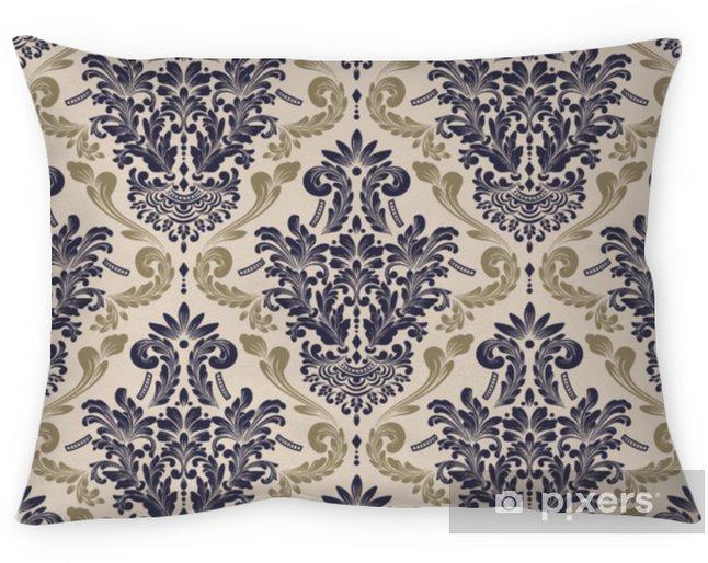 Kussensloop Vector damast naadloze patroon achtergrond. klassieke luxe ouderwetse damast ornament, Koninklijke Victoriaanse naadloze textuur voor achtergronden, textiel, onmiddellijke verpakking. prachtige bloemen barokke sjabloon - Grafische Bronnen