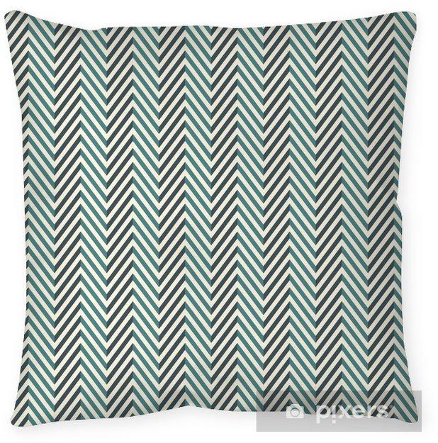 Kussensloop Visgraat abstracte achtergrond. blauwe kleuren naadloze patroon met chevron diagonale lijnen. - Grafische Bronnen