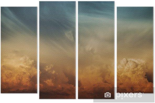 Kwadryptyk Burzowa Chmura Natura Tło - Przeznaczenia