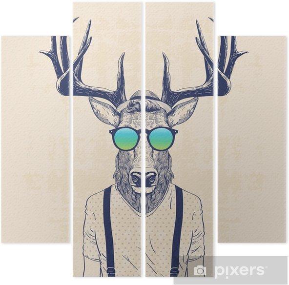 Kwadryptyk Chłodny jelenia - Zwierzęta
