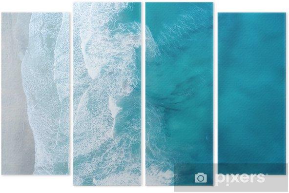 Kwadryptyk Fale na plaży jako tło. piękne naturalne tło w okresie letnim - Krajobrazy