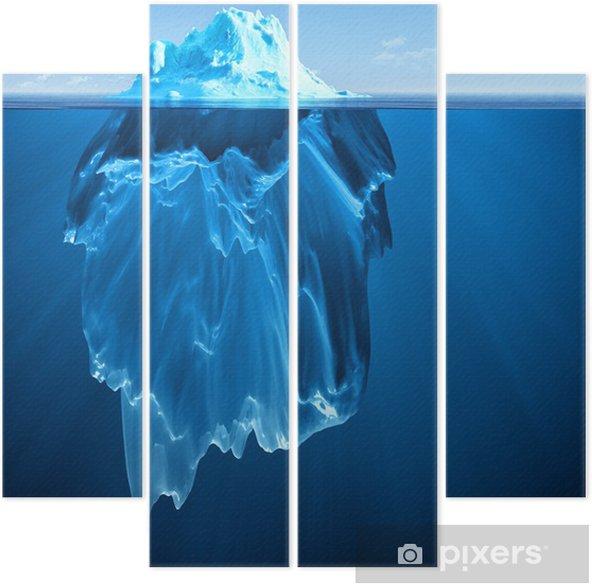 Kwadryptyk Góra lodowa - Tematy