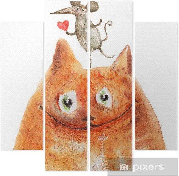 Kwadryptyk Kot z Mäuse - Emocje i uczucia