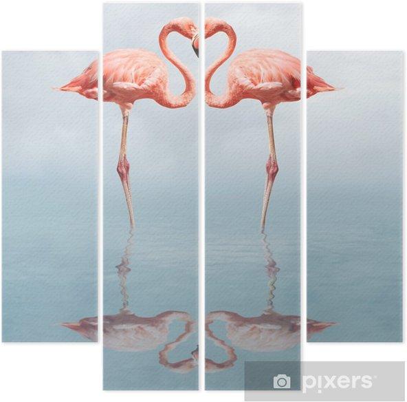 Kwadryptyk Making love - Flamingi