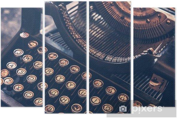Kwadryptyk Zabytkowe maszyny do pisania - Inne przedmioty