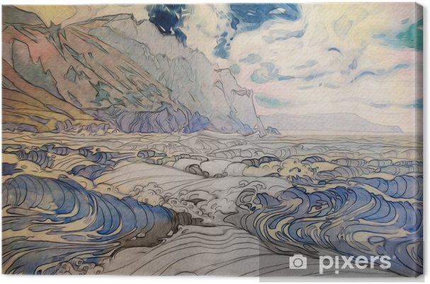 Leinwandbild Морской пейзаж - Landschaften