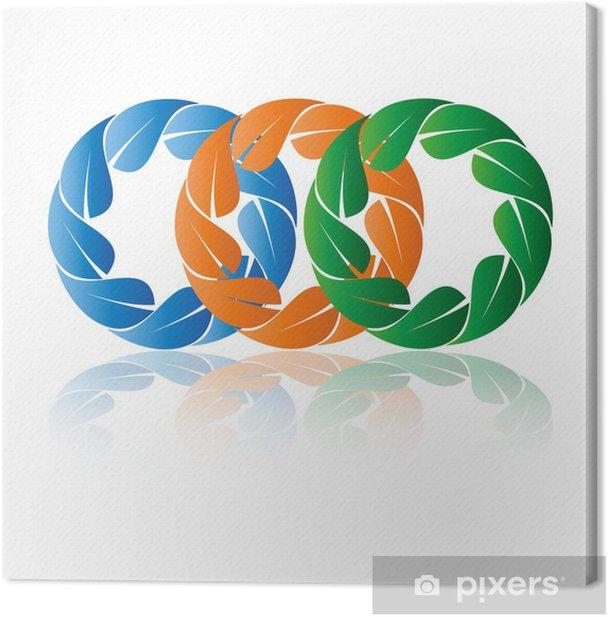 Leinwandbild Логотип природа - Zeichen und Symbole